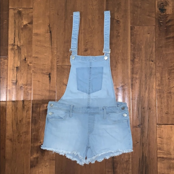 Vici Denim - Vici light wash Jean Short Overalls by Klique B